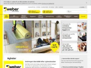 Weber | Saint-Gobain Sweden
